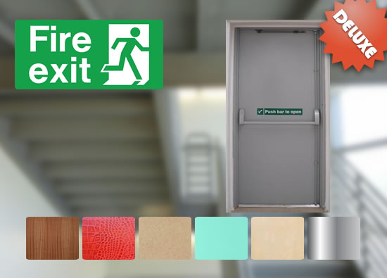 Fire Exit Staircase Door Delux Package